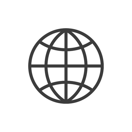 The globe icon. Globe symbol. Flat Vector illustration