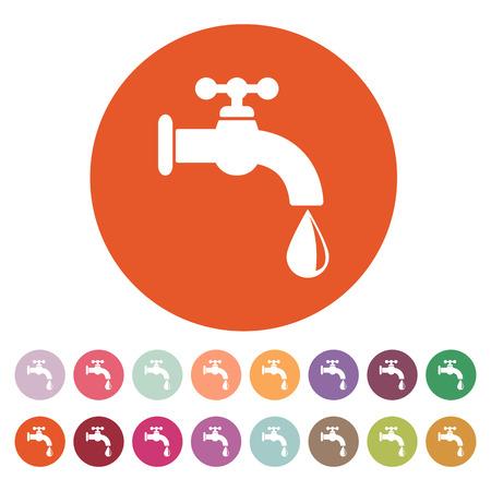 Het pictogram kraanwater