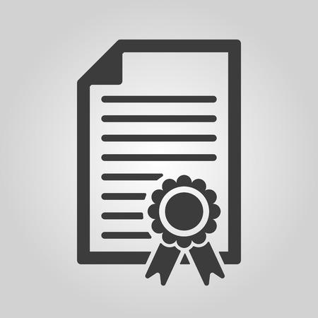diploma template: The diploma icon Illustration