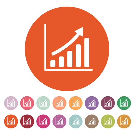 The growing graph icon Illustration