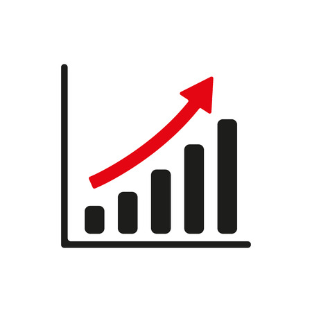 The growing graph icon Vectores