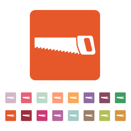 crosscut: The saw icon. Saw symbol. Flat Vector illustration. Button Set