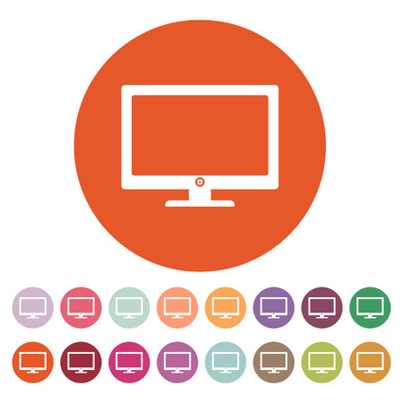 flat screen: The screen icon. Monitor symbol. Flat Vector illustration. Button Set