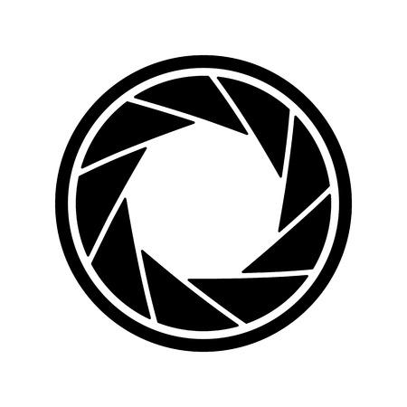 Het pictogram middenrif. Aperture symbool Flat Vector illustratie.