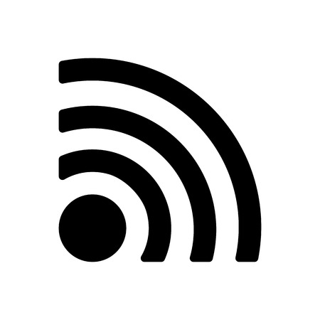 The wireless icon. wifi symbol. Flat Vector illustration Çizim