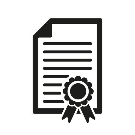 Het pictogram diploma. Certificaat symbool. Flat Vector illustratie Stock Illustratie