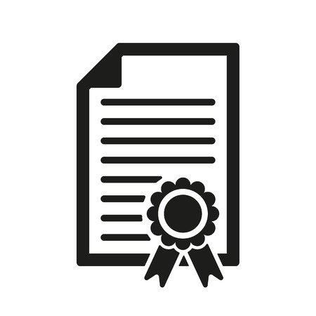 diploma template: The diploma icon. Certificate symbol. Flat Vector illustration