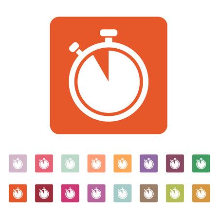 countdown: The stopwatch icon. Countdown symbol. Flat Vector illustration. Button Set Illustration
