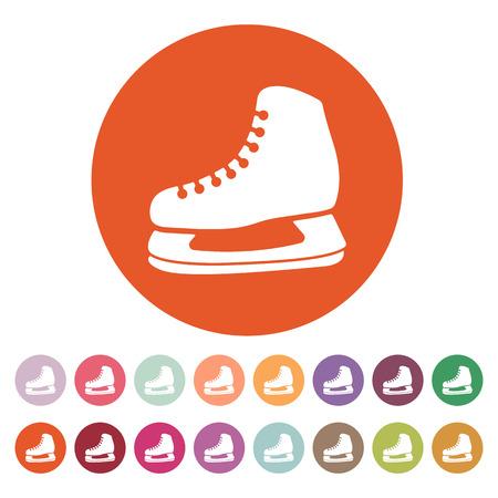 hockey skates: The skates icon. Hockey skates symbol. Flat Vector illustration. Button Set Illustration