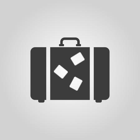 maleta: El icono de la maleta. Símbolo de equipaje. Ilustración vectorial Flat Vectores
