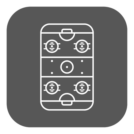 rink: Ice Hockey Rink icon. Game symbol. Flat Vector illustration. Button