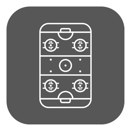 hockey rink: Icono de Hockey Rink. S�mbolo Juego. Ilustraci�n vectorial Flat. Bot�n