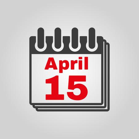15: The Calendar 15 April icon.