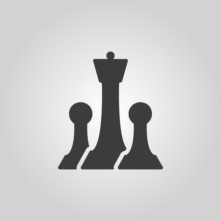 chess game: The chess icon.  Illustration