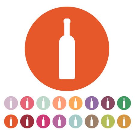 bouteille de vin: L'icône de la bouteille de vin. Illustration