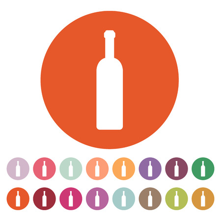 wine label: The wine bottle icon.