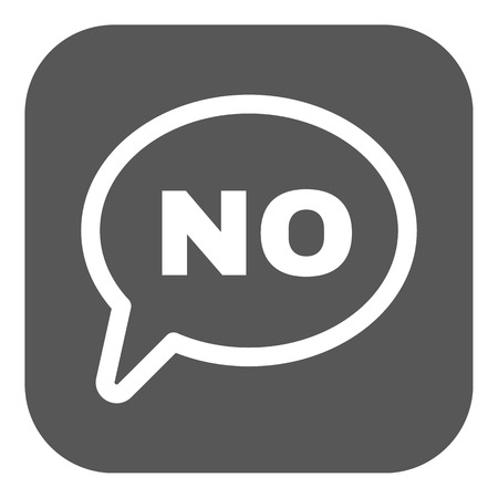 The NO speech bubble icon. No symbol. Flat Vector illustration. Button Vector