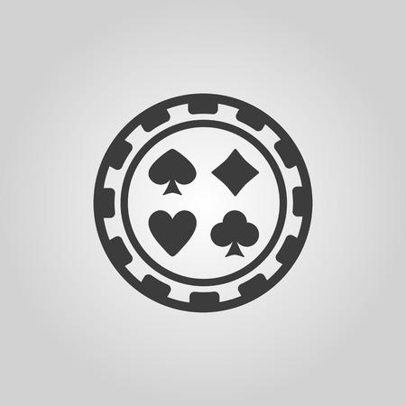 ruleta casino: El icono de la ficha de casino. S�mbolo Casino Chip. Ilustraci�n vectorial Flat Vectores