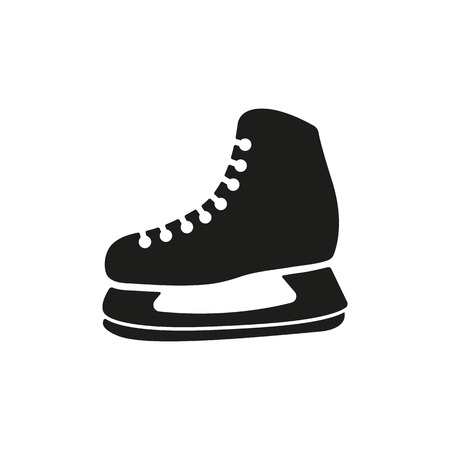 The skates icon. Hockey skates symbol. Flat Vector illustration.