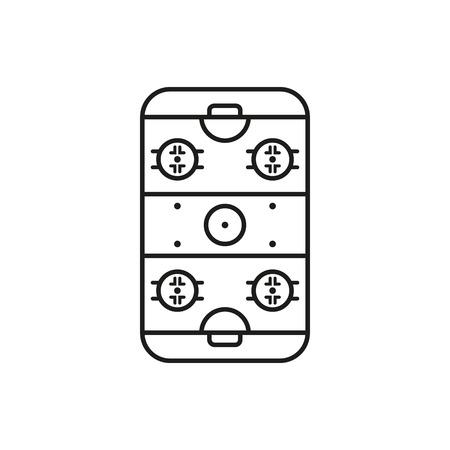 hockey rink: Icono de Hockey Rink. S�mbolo Juego. Ilustraci�n vectorial Flat