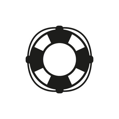 lifebelt: The lifebuoy icon. Lifebelt symbol. Flat Vector illustration