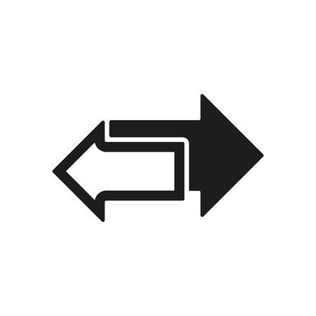 左と右の矢印アイコンです。矢印記号。フラットのベクトル図  イラスト・ベクター素材