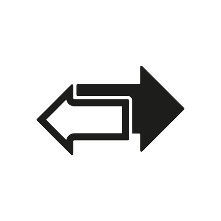 left arrow: The left and right arrows icon. Arrows symbol. Flat Vector illustration