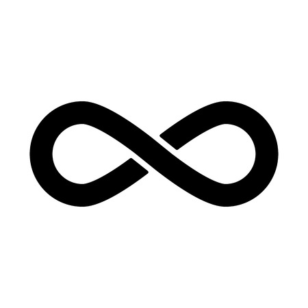 The infinity icon. Infinity symbol. Flat Vector illustration