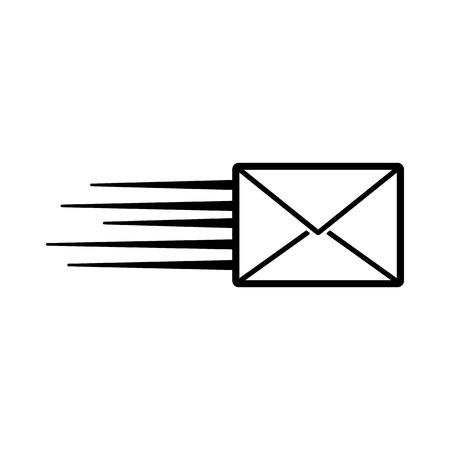 The envelope icon. Mail symbol. Flat Vector illustration Illustration
