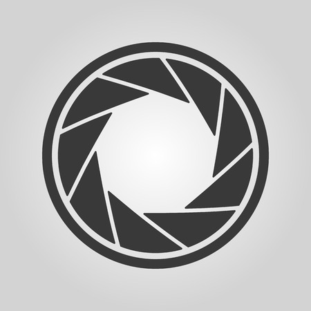 The diaphragm icon. Aperture symbol. Flat Vector illustration Illustration