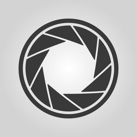diaframma: L'icona diaframma. Simbolo Aperture. Appartamento vettore