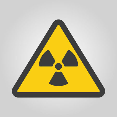 radiation symbol: The radiation icon. Radiation symbol. Flat Vector illustration Illustration