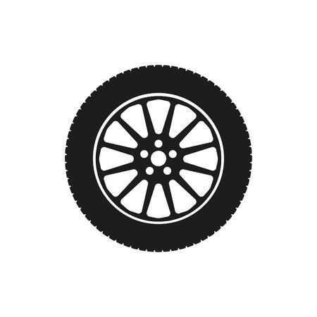 The tire icon. Wheel symbol. Flat Vector illustration