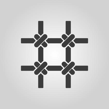 incarceration: El icono de barras de la prisi�n. S�mbolo de cuadr�cula. Ilustraci�n vectorial Flat Vectores
