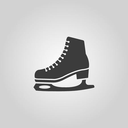 skating: The skates icon. Figure skates symbol. Flat Vector illustration