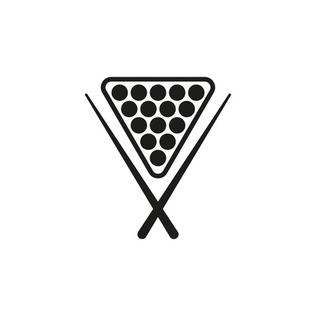 snooker rooms: The billiard icon. Game symbol. Flat Vector illustration Illustration