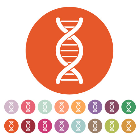 heredity: The dna icon. Genetic symbol. Flat Vector illustration. Button Set