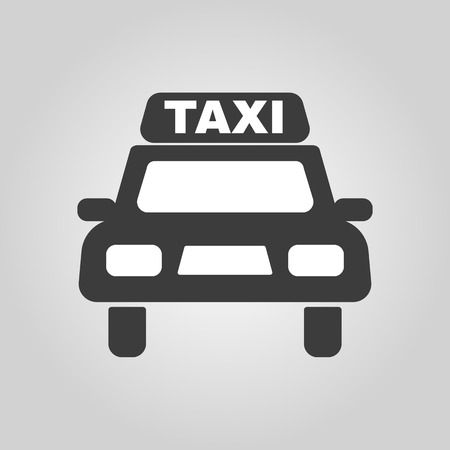taxicab: The taxi icon. Taxicab symbol. Flat Vector illustration Illustration