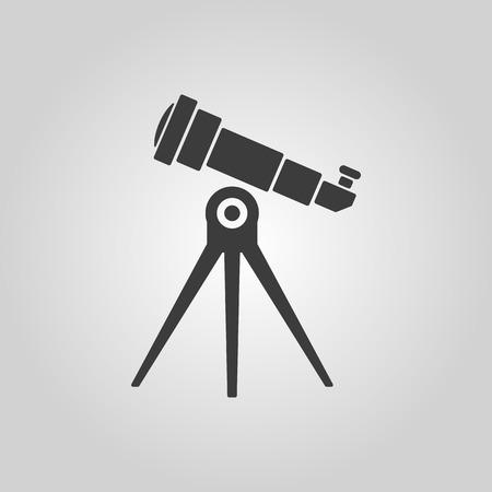 spyglass: The telescope icon. Spyglass symbol. Flat Vector illustration Illustration