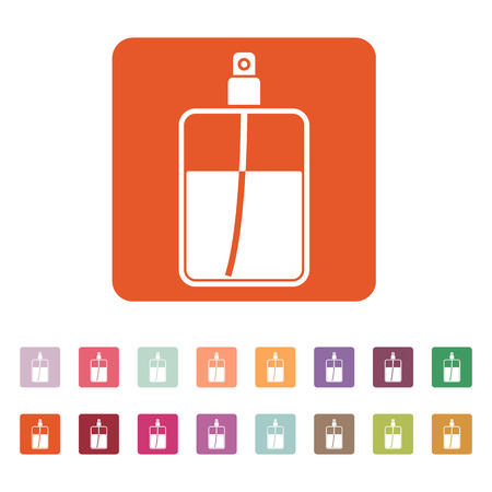 atomizer: The perfume icon. Cologne symbol. Flat Vector illustration. Button Set Illustration