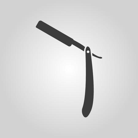 shaver: The razor icon. Shaver symbol. Flat Vector illustration Illustration