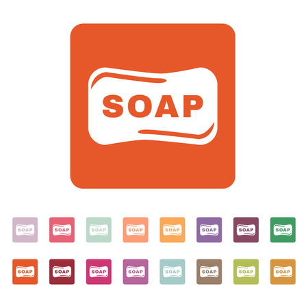 soap suds: The soap icon.  Soap symbol. Flat Vector illustration. Button Set