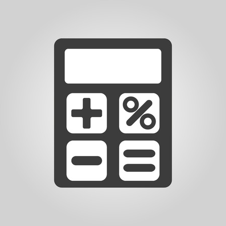 accounting design: The calculator icon. Accounting symbol. Flat Vector illustration