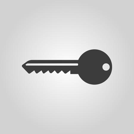 llaves: El icono de la llave. S�mbolo de la llave. Ilustraci�n vectorial Flat