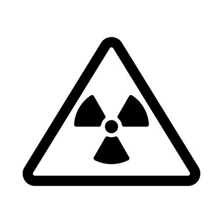 irradiation: The radiation icon. Radiation symbol. Flat Vector illustration Illustration