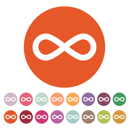 infinity icon: The infinity icon. Infinity symbol. Flat Vector illustration. Button Set