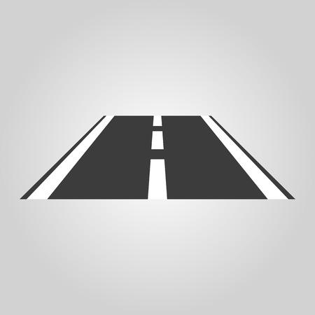 route: L'ic�ne de la route. symbole de l'autoroute. Flat Vector illustration