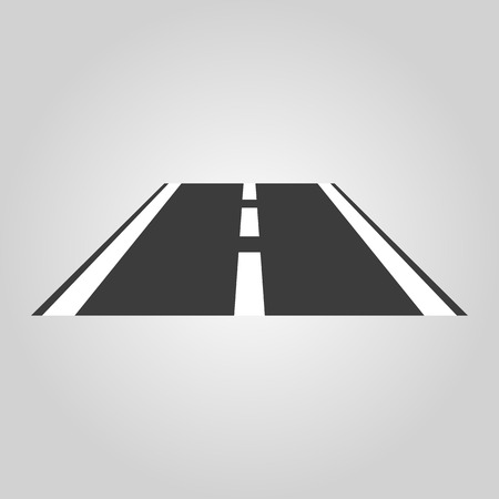 curve road: The road icon. Highway symbol. Flat Vector illustration