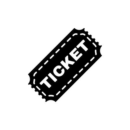 biglietto: L'icona del biglietto. Simbolo del biglietto. Piatto vettore Vettoriali