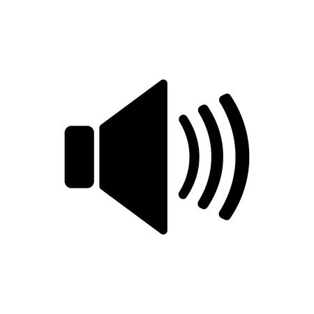 The speaker icon. Sound symbol. Flat Vector illustration